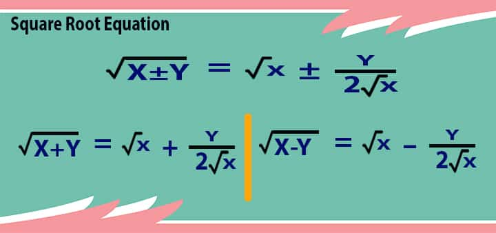 square root 5 equation