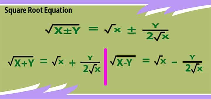 square root 8 equation method